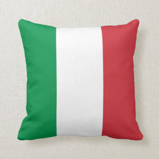 Italian Flag on American MoJo Pillow