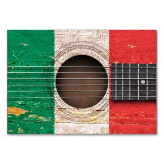 Italian Flag on Old Acoustic Guitar Card