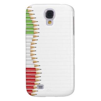 Italian flag pencils Case Galaxy S4 Covers