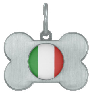 Italian Flag Pet Name Tag