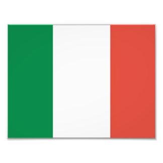 italian flag photo print