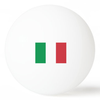 Italian flag ping pong balls for table tennis