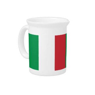 Italian Flag Pitcher