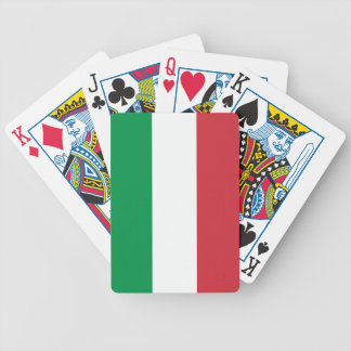 Italian flag playing cards Tricolore Italy