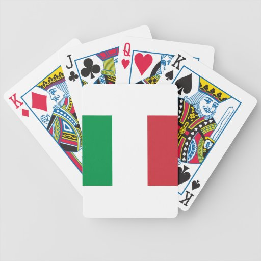 Italian Flag Playing Cards