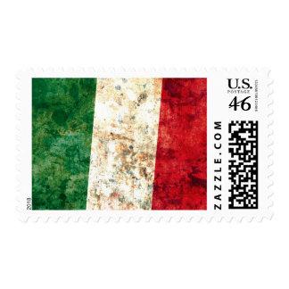 Italian Flag Postage Stamp