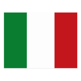 Italian flag postcard