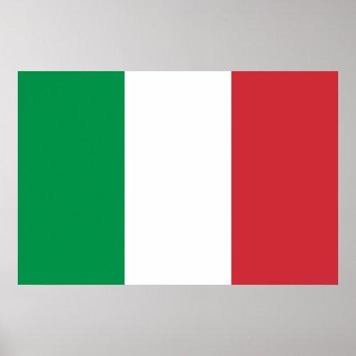 Italian Flag Print print