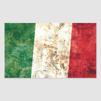Italian Flag Rectangular Sticker