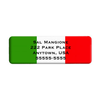 Italian Flag Return Address Label Template