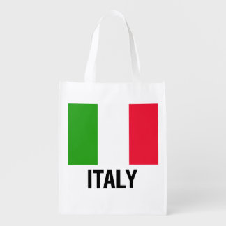 ITALIAN FLAG REUSABLE GROCERY BAG