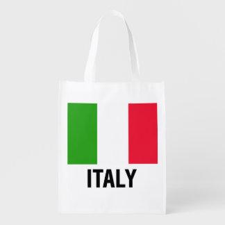 ITALIAN FLAG REUSABLE GROCERY BAGS