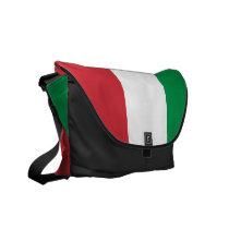 Italian Flag Rickshaw Messenger Bag