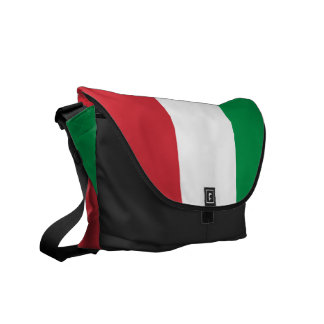 Italian Flag Rickshaw Messenger Bag