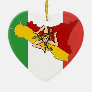 Italian Flag Sicily Ornament