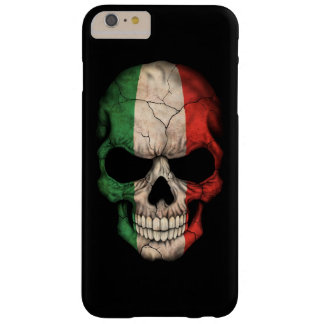 Italian Flag Skull on Black Barely There iPhone 6 Plus Case