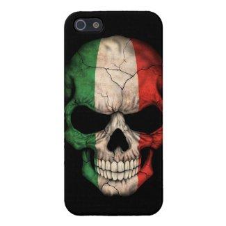 Italian Flag Skull on Black