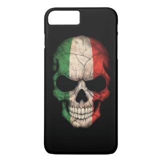 Italian Flag Skull on Black iPhone 7 Plus Case