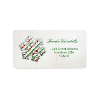 Italian flag Snowflake Avery address label