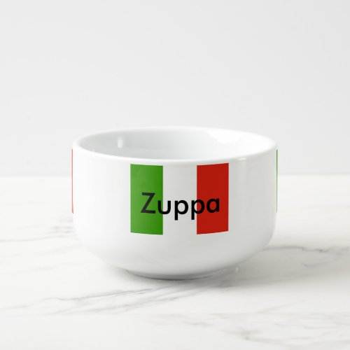 "Italian Flag Soup ""Zuppa"" Bowl"