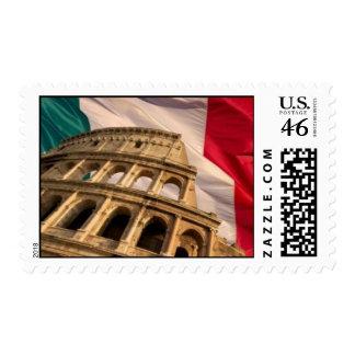 Italian Flag Stamp