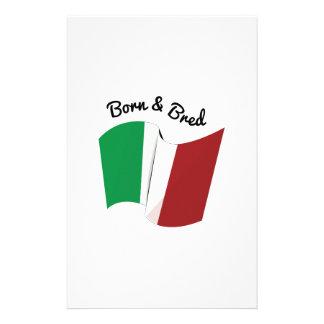 Italian Flag Personalized Stationery