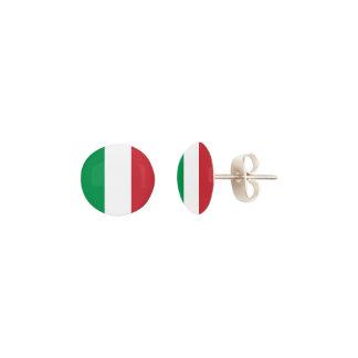 Italian flag stud earrings
