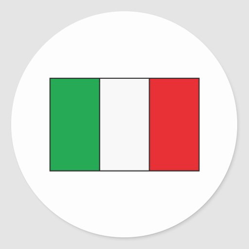 Italian Flag T-shirts and Gifts Round Sticker