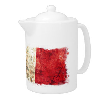 Italian Flag Teapot