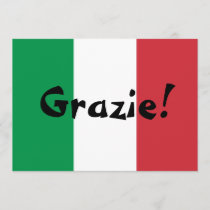 Italian Flag Thank You
