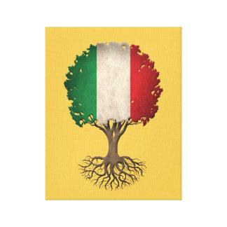 Italian Flag Tree of Life Customizable Canvas Prints