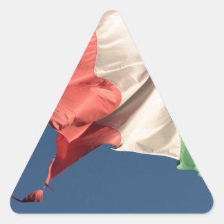 italian flag triangle sticker