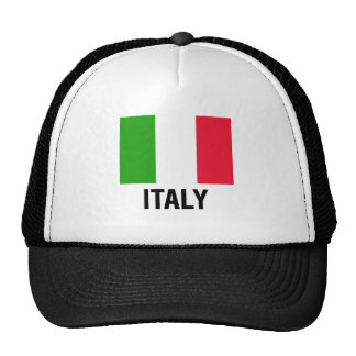 ITALIAN FLAG TRUCKER HAT