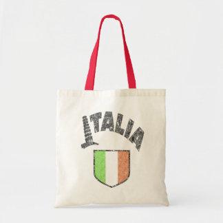 Italian Flag Vintage Canvas Tote Bag