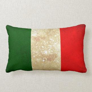 Italian Flag Vintage Grunge Style Throw Pillow