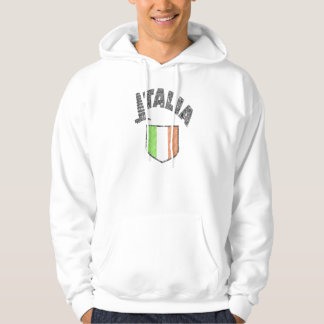 Italian Flag Vintage Hooded Sweatshirt