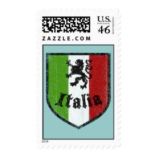 Italian Flag Vintage Style Postage Stamp