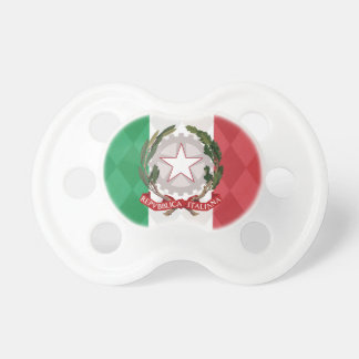 Italian Flag with Coat of Arms BooginHead Pacifier