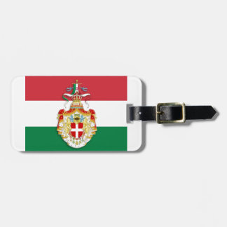 Italian Flag with insignia of the Kingdom of Italy Bag Tag