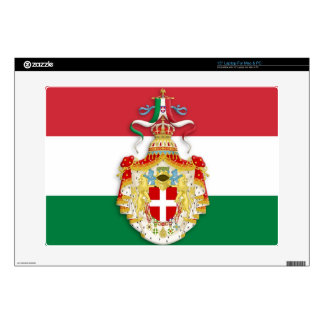 Italian Flag with insignia of the Kingdom of Italy Skins For Laptops