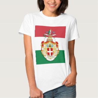 Italian Flag with insignia of the Kingdom of Italy T Shirt