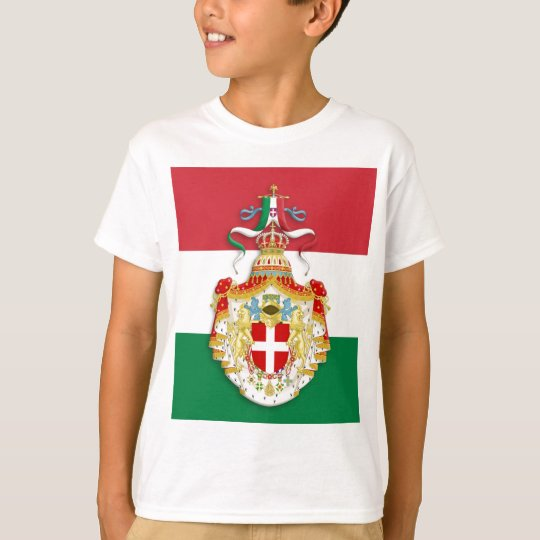 Italian Flag with insignia of the Kingdom of Italy T-Shirt