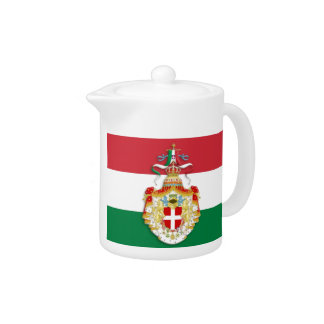 Italian Flag with insignia of the Kingdom of Italy Teapot