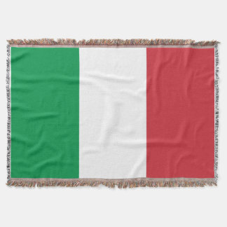 Italian flag woven throw blanket   Italy tricolore