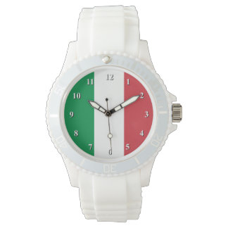 Italian flag wrist watches for men and women.