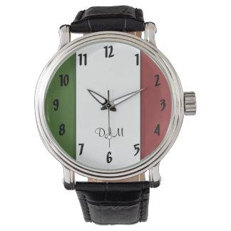Italian Flag Wristwatch