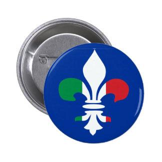 Italian Fleur de Lis Button