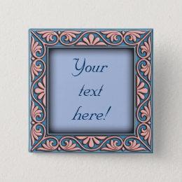 Italian floral frame ornament button