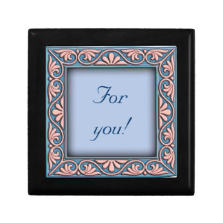 Italian floral frame ornament jewelry boxes
