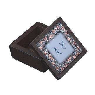 Italian floral frame ornament premium jewelry boxes